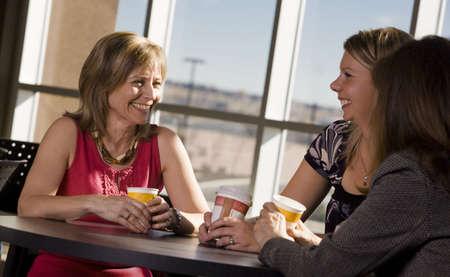 30 something women: Women visiting together