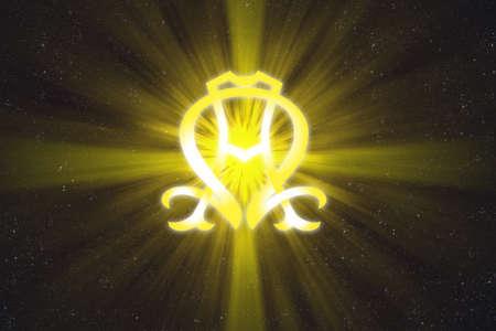 belief systems: Alfa e Omega simbolo