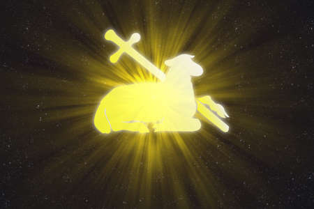 compilations: Illuminated lamb and cross in the sky