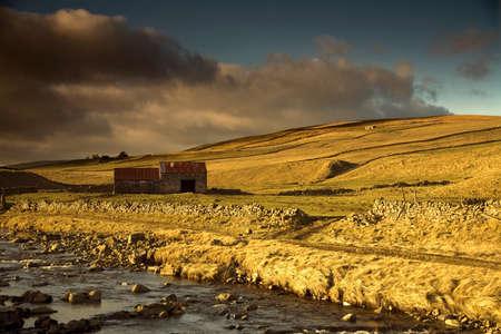 yorkshire dales: Vertiente en los valles de Yorkshire, Inglaterra