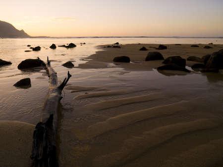 levit: Beach with driftwood and rocks,Kaui,Hawaii