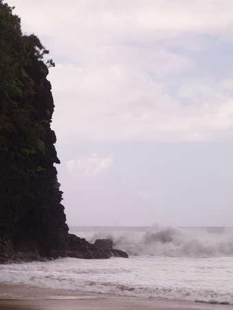Waves against a cliff,Napali Coast State Park,Kauai,Hawaii Stock Photo - 7207090