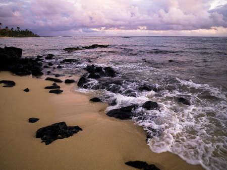 Rocks on the beach,Poipu,Kauai,Hawaii photo
