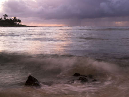 Waves and storm clouds,Poipu,Kauai,Hawaii Stock Photo - 7207027