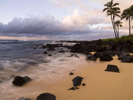 Shoreline,Poipu,Kauai,Hawaii Banco de Imagens