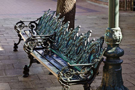 Cast iron benches photo