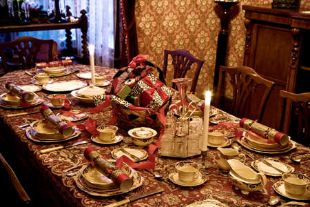 feasts: Formal table setting