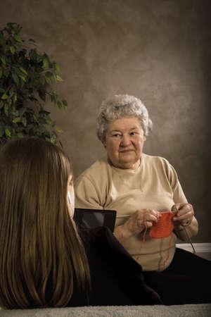 孫との時間を一緒に過ごすの祖母