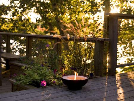levit: Sunset on a deck