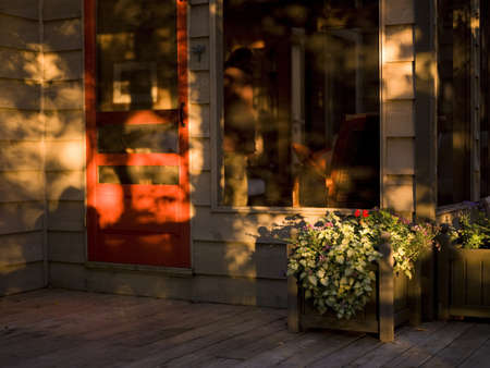 porches: Sunset on the porch