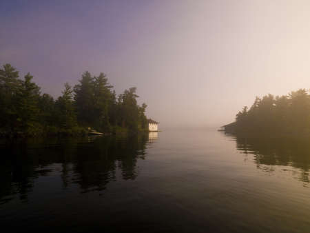 Lake of the Woods,Ontario,Canada,Peaceful setting on a lake photo