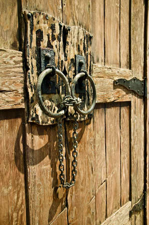 farm structures: Locked barn door