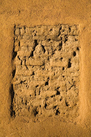 cummins: Closeup of a wall on the oldest adobe house in Santa Fe,New Mexico,USA