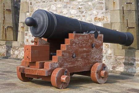 Cannon in Kings Bastion,Fortress of Louisbourg National Historic Site,Cape Breton Island,Nova Scotia,Canada photo