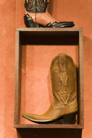 cummins: Western store window display,city of Santa Fe,New Mexico,USA Stock Photo