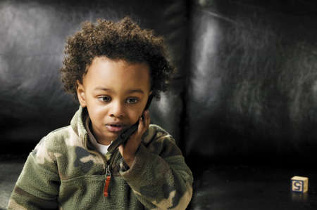 Child with cell phone Stock Photo - 7208718
