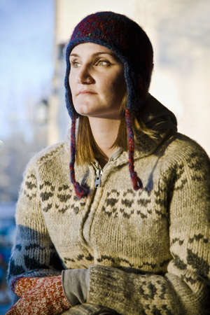 Woman wearing toque and sweater Stock Photo - 7208195