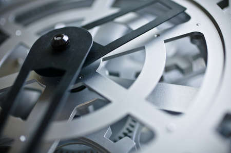 timepieces: Clock and gears Stock Photo