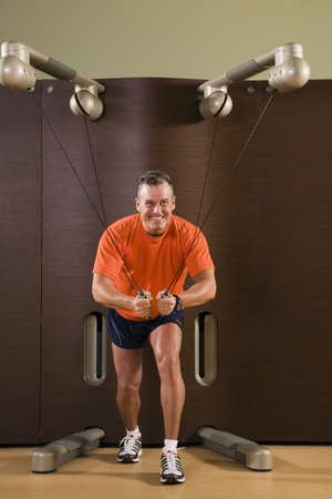 fifty something: Man working out