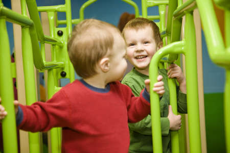 acquaintance: Children playing Stock Photo