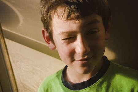 silliness: Boy winking