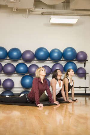 Women stretching photo
