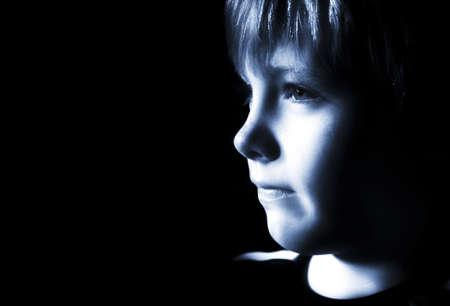 pre teen boys: Sad boy Stock Photo