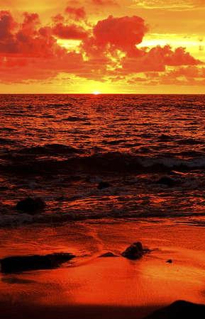 cahill: Sunset on the ocean in Mazatlán, Mexico