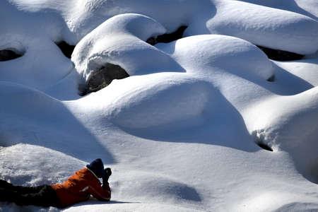 Female photographer, Jasper National Park, Alberta, Canada photo
