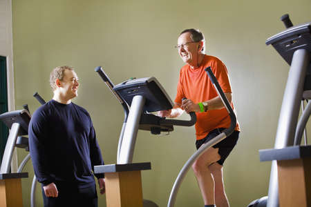 sixty something: Men at the gym