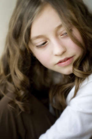 sincere girl: Portrait of a young girl