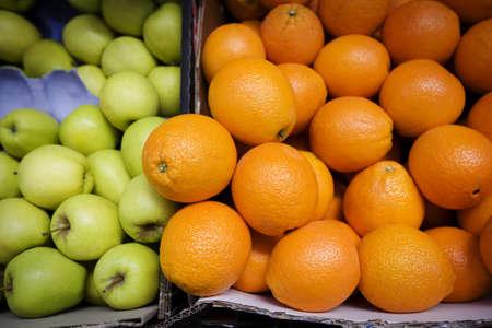 glubish: Apples and oranges Stock Photo