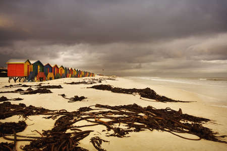 Changing huts along the beach, Cape Town, South Africa