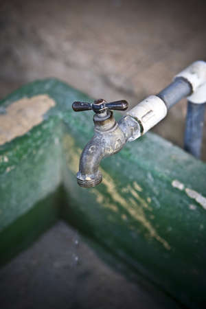 Rusty water tap photo