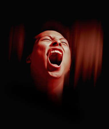Man screaming photo
