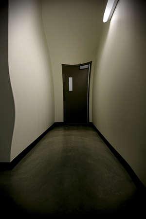 Warped hallway Stock Photo