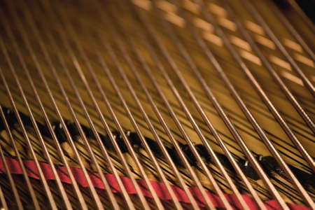 Close up of piano strings Imagens