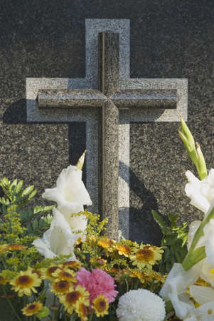 Flowers on grave Stock Photo - 7209474