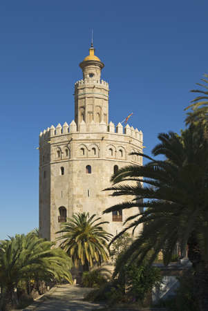 andalucia: Gold Tower,Seville,Andalucia,Spain Stock Photo