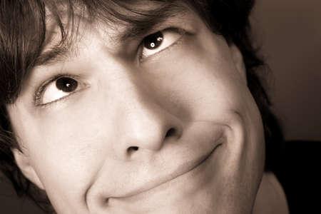 Man making goofy face photo