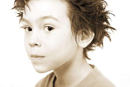 sepias: Portrait of boy Stock Photo