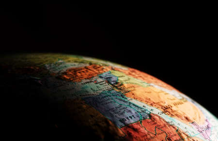 cropped out: Globe,close-up
