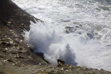 Waves crashing,Cape Kiwanda,Oregon,USA photo