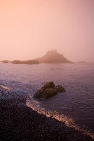 craig tuttle: Morning fog along Cobel Beach,Yaquina Head,Oregon Coast,USA