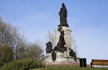 female likeness: Statue of Queen Victoria,parliament grounds,Ottawa,Ontario,Canada   Stock Photo