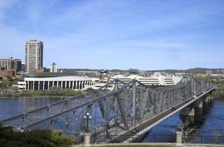 alexandra: Alexandra Bridge,Ottawa,Ontario,Canada Stock Photo