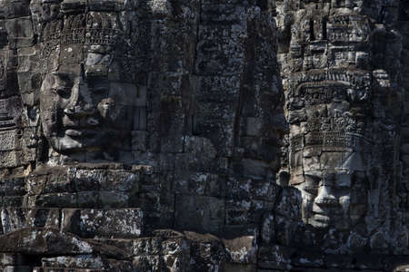 The faces of the Bayon temple,Angkor,in northwestern Cambodia Stock Photo - 7207527