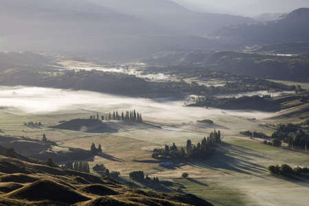 arial views: Aerial view of Arrowtown,New Zealand Stock Photo