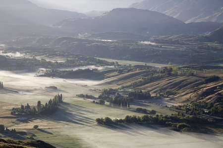 Aerial view of Arrowtown,New Zealand Stock Photo