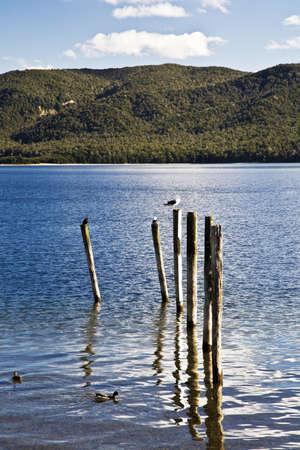 Te: Lake Te Anau,New Zealand Stock Photo